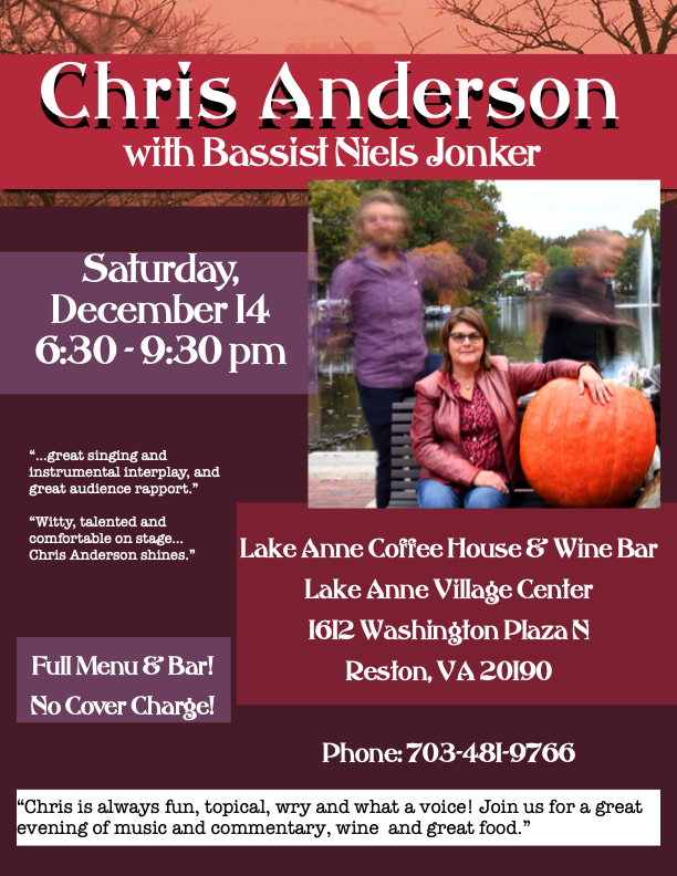 Chris Anderson at Lake Anne Coffeehouse & Wine Bar